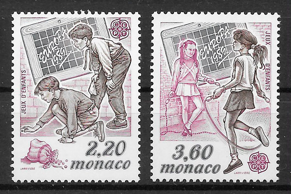 coleccion sellos Europa Monaco 1989