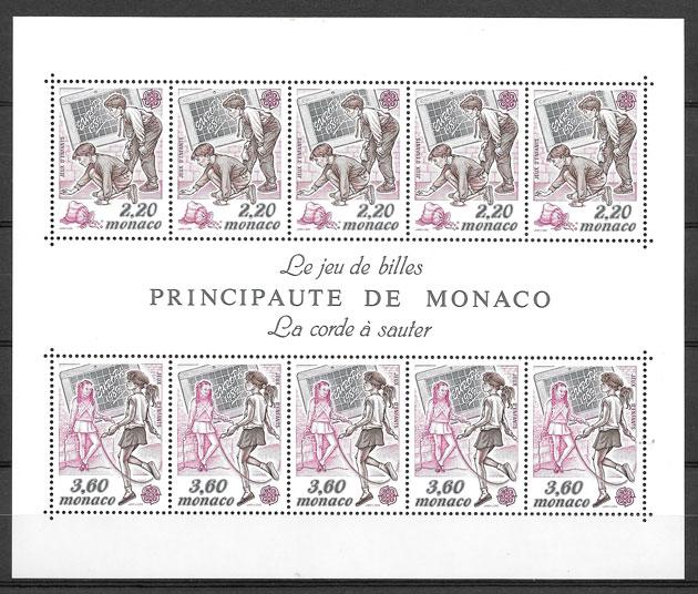 filatelia Europa Monaco 1989