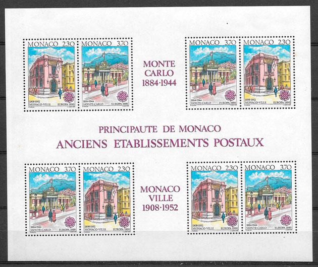 filatelia Europa Monaco 1990