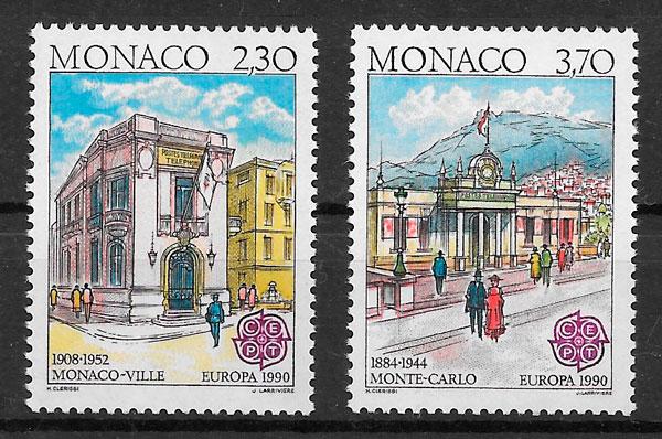 coleccion sellos Europa Monaco 1990