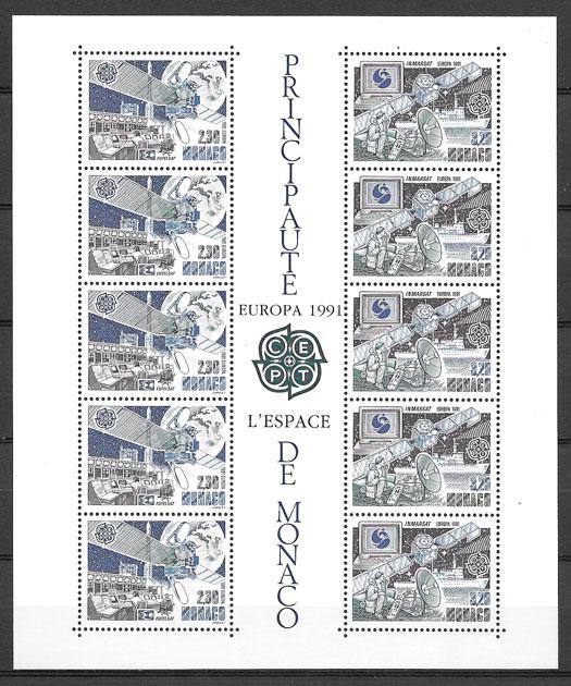 filatelia coleccion Europa Monaco 1991