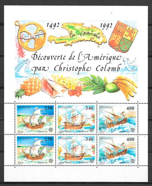 coleccion sellos Monaco Europa 1992