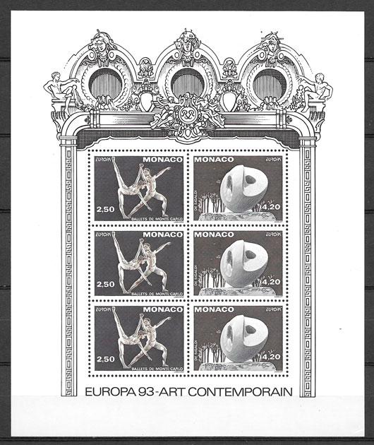 coleccion sellos Europa Monaco 1993