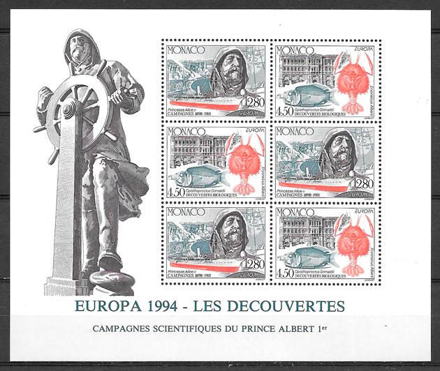 sellos Europa Monaco 1994