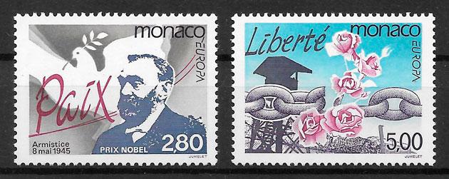 sellos Europa Monaco 1995