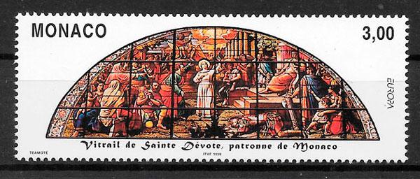 filatelia coleccion Europa Monaco 1999