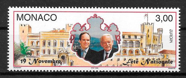 filatelia coleccion Monaco Europa 1998