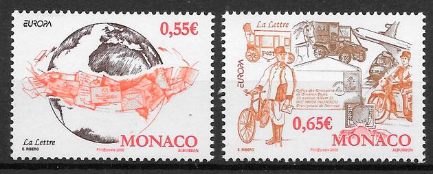 filatelia coleccion Europa Monaco 2008