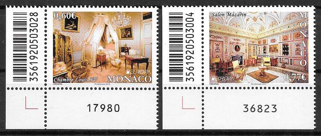 sellos Monaco Europa 2012