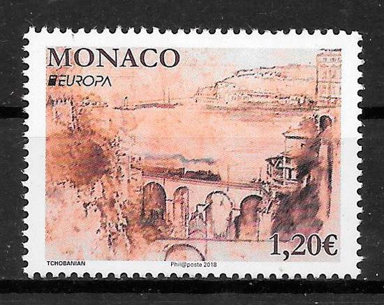 sellos Europa 2018 Monaco