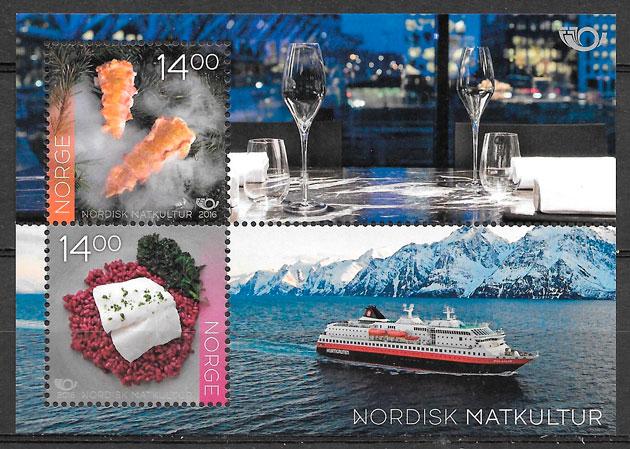 colección sellos temas varios Noruega 2016