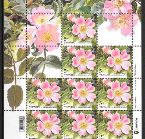 sellos flora Ucrania 2018