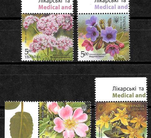 filatelia flora Ucrania 2018