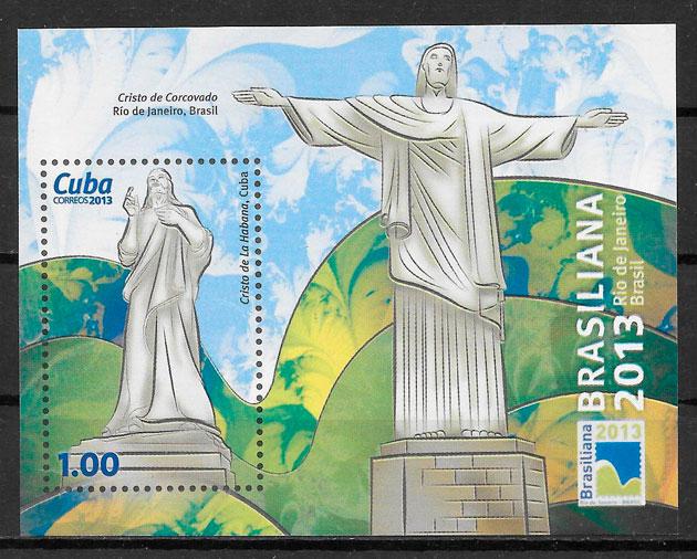 colección sellos arte Cuba 2013