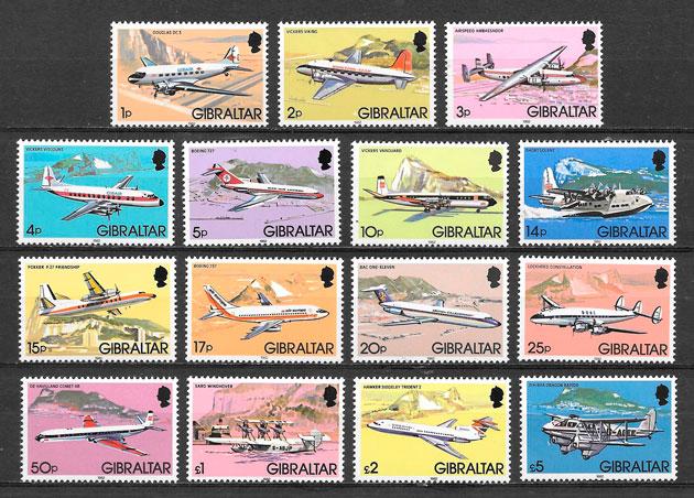 filatelia transporte Gibraltar 1982