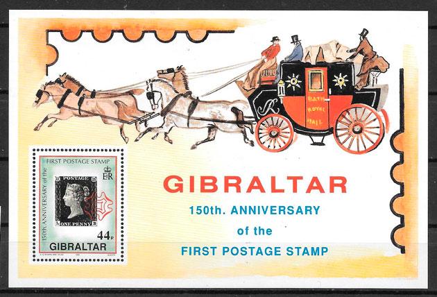 filatelia colección transporte Gibraltar 1990