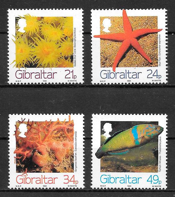 filatelia fauna Gibraltar 1994