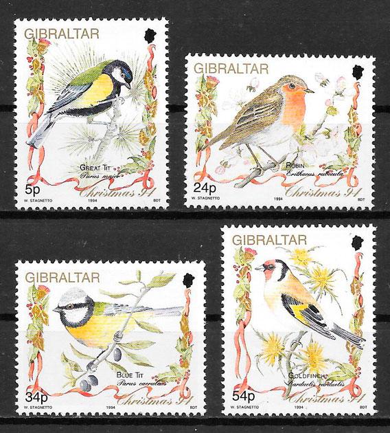 filatelia colección fauna Gibraltar 1994