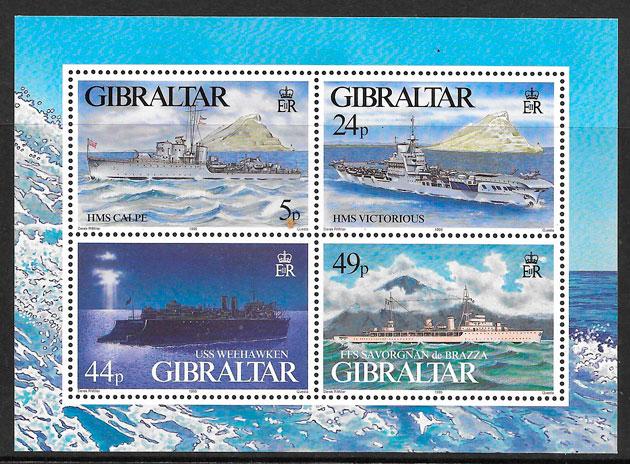 colección sellos transporte Gibraltar 1995