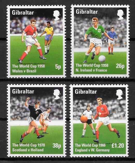 sellos fútbol Gibraltar 1998