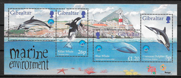 sellos fauna Gibraltar 1998