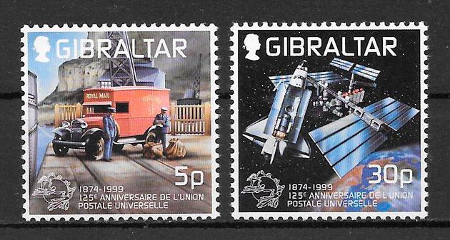 filatelia transporte Gibraltar 1999