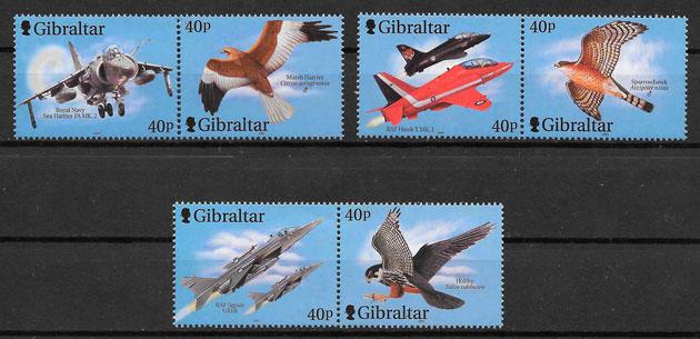 filatelia fauna Gibraltar 2001
