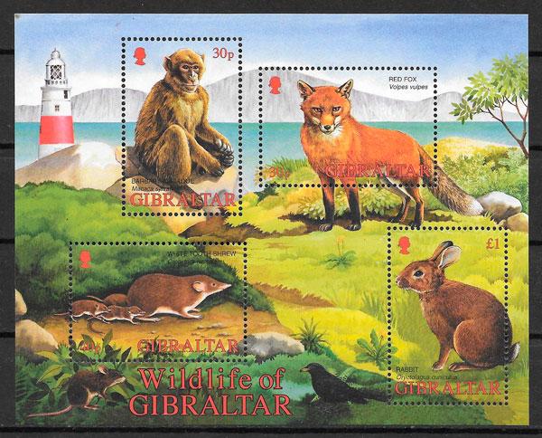 sellos fauna Gibraltar 2002
