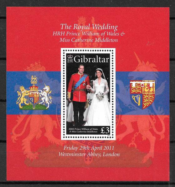 filatelia colección personalidades Gibraltar 2011