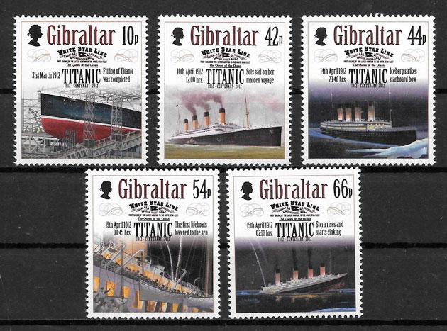 colección sellos transporte Gibraltar 2012