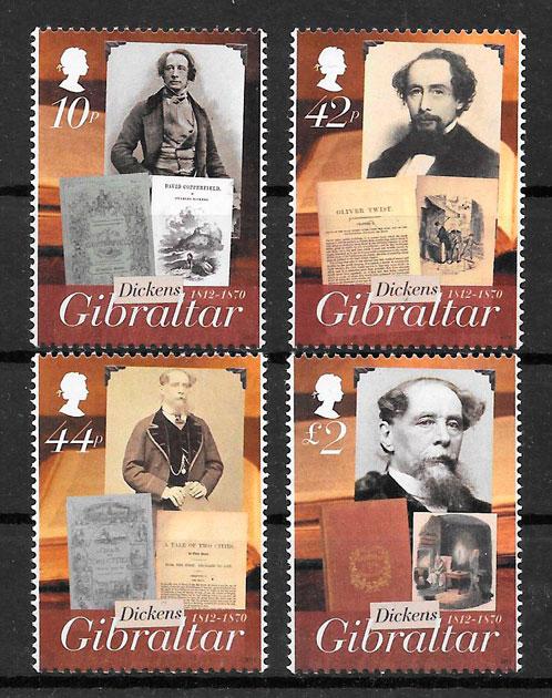 sellos personalidades Gibraltar 2012