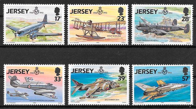 filatelia transporte Jersey 1993