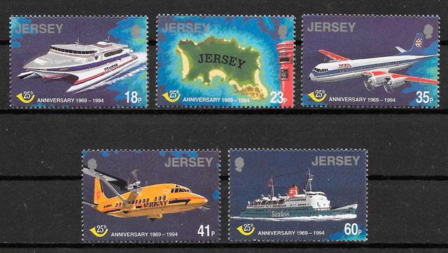 filatelia transporte Jersey 1994