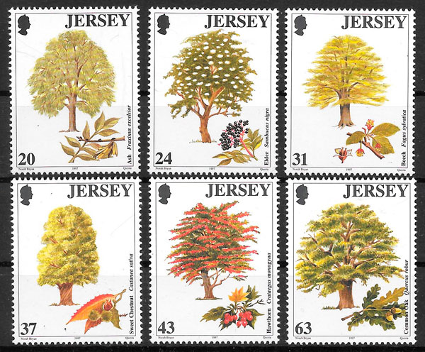 sellos flora Jersey 1997