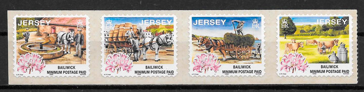 filatelia colección transporte Jersey 1998