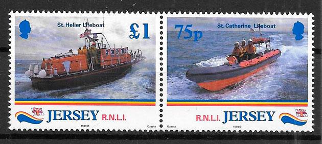 colección sellos transporte Jersey 1999