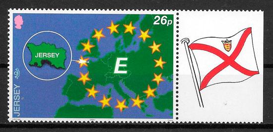 sellos temas varios Jersey 2000