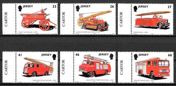 filatelia colección transporte Jersey 2001