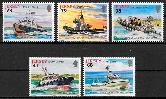 colección sellos transporte Jersey 2002