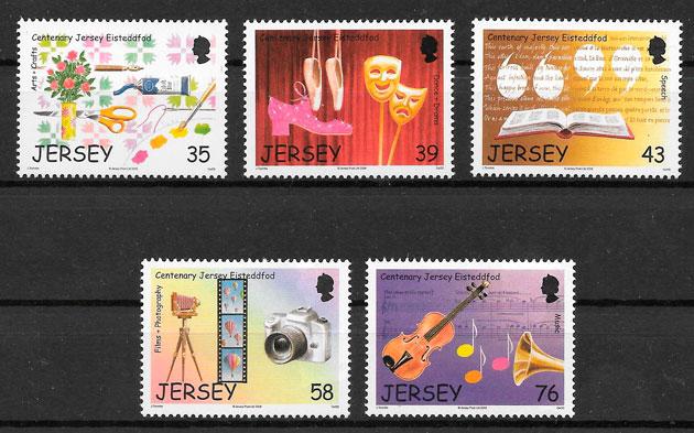 filatelia temas varios Jersey 2008