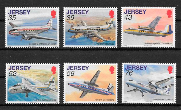 colección sellos transporte Jersey 2008