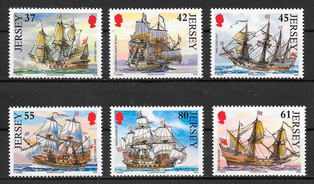 colección sellos transporte Jersey 2009