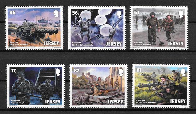 filatelia temas varios Jersey 2014