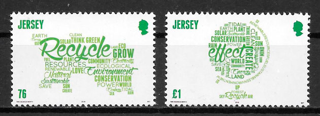 coleción sellos temas varios Jersey 2016