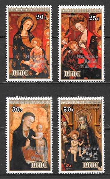 sellos pinturas Niue 1979