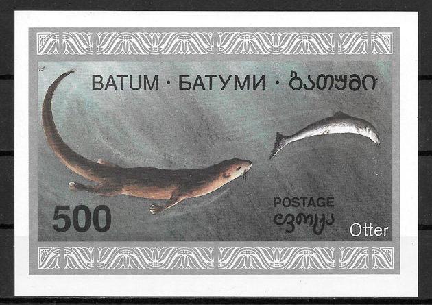 filatelia fauna Regiones Rusa