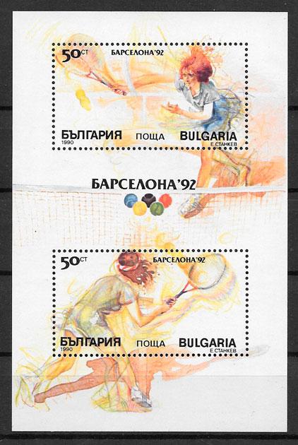sellos olimpiadas Bulgaria 1990