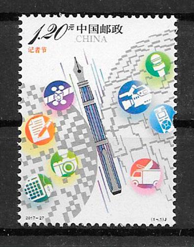 sellos temas varios China 2017