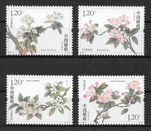 filatelia flora China 2018