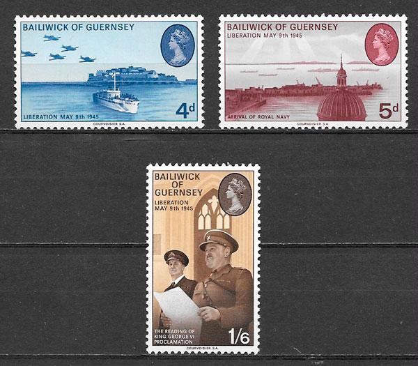 sellos temas varios Guersey 1970